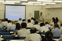 講演会には農薬メーカーなどから多くの参加者があった。