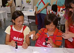 BASF子ども実験教室の様子