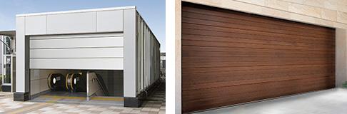 「ウォーターガード 防水シャッター」、木製フラットガレージドア「ゼクラライト」