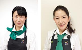 野菜ソムリエの加治屋美保さん(左)と増田智子さん