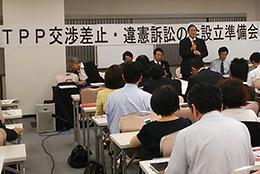 TPP交渉差止・違憲訴訟の会の代表には原中勝征・前日本医師会会長が就任。「若い人たちがこの国で生きてよかったと思えるようにしなければ」と話す。
