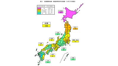 2021年産米 全国作況「100」 北海道108 熊本94