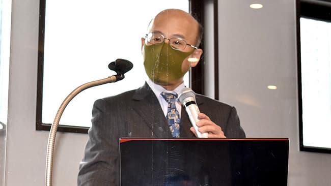 講演を行う小俣農水省穀物課課長補佐