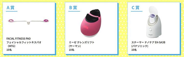 プレゼント賞品 A賞 B賞 C賞