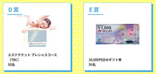 プレゼント賞品 D賞 E賞