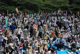 全国から2000人を超える参加者であふれた芝公園