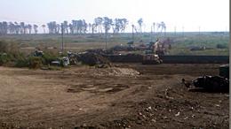 津波の傷跡が残る宮城県岩沼市沿岸部の様子。2011年9月撮影