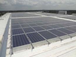 コープネット 冷凍専用物流センターで太陽光発電