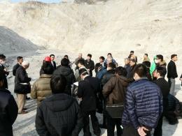 リン鉱石採掘現場の視察