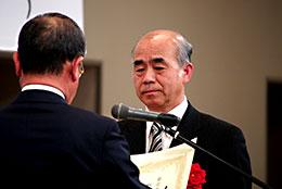 表彰をうけるJAなす南山田組合長