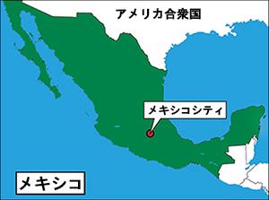 メキシコシティの位置