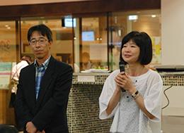 東京の農業をピーアールする野島さん(右)と澤井さん