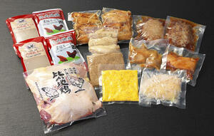 比内地鶏と温めるだけのお惣菜セット(冷凍)