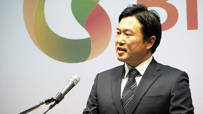 新会社設立を発表する(株)ビオストックの熊谷智孝社長