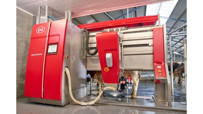 導入予定のアストロノートA5Lely社製搾乳ロボット=コーンズ・エージー提供