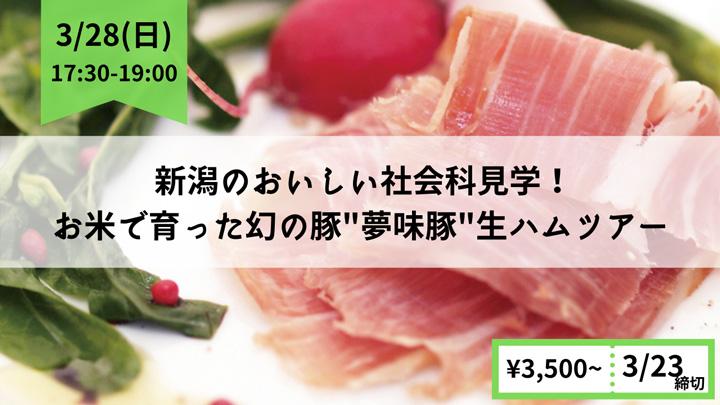 お米で育った幻の豚「夢味豚」 新潟・生ハムオンラインツアー開催