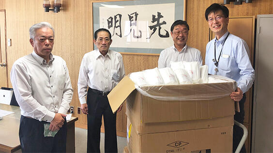 青果物本格出荷へ各JAにマスク提供-JA全農鳥取県本部