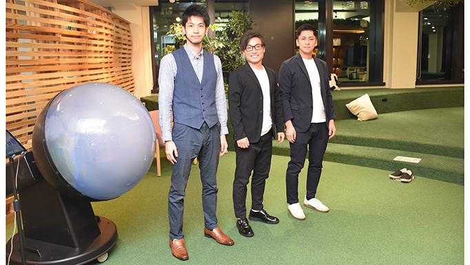 (左から)松阪颯士さん(取締役COO)、井出飛悠人さん(代表取締役)、岩間裕太さん(CFO)