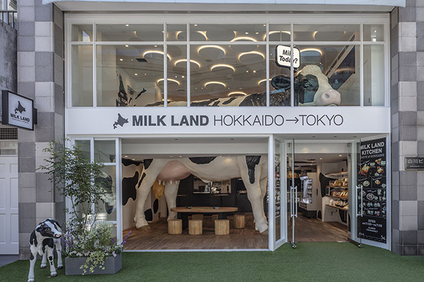 北海道産牛乳・乳製品のアンテナショップ「MILKLAND HOKKAIDO → TOKYO」