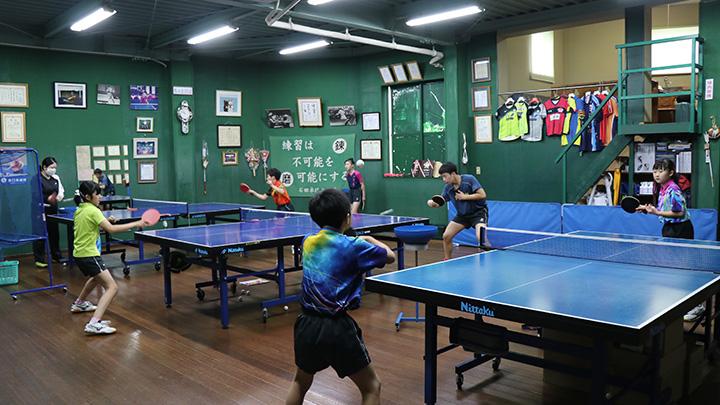 「石田卓球N+」 選手の練習風景