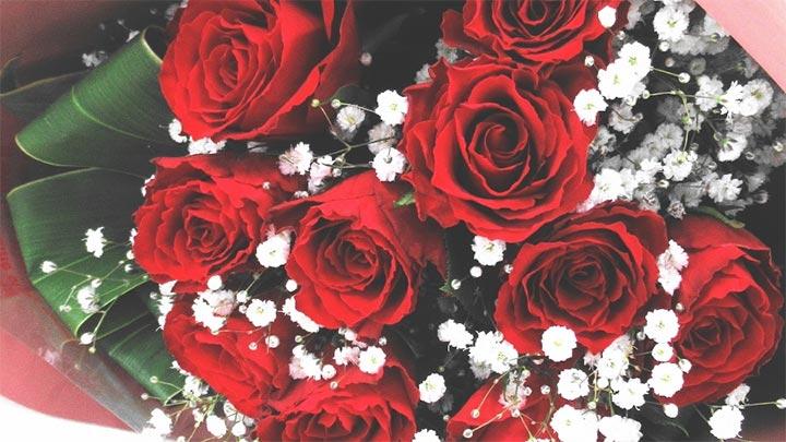 秋田県産バラの花束