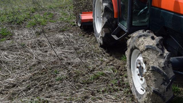トラクターの盗難に注意