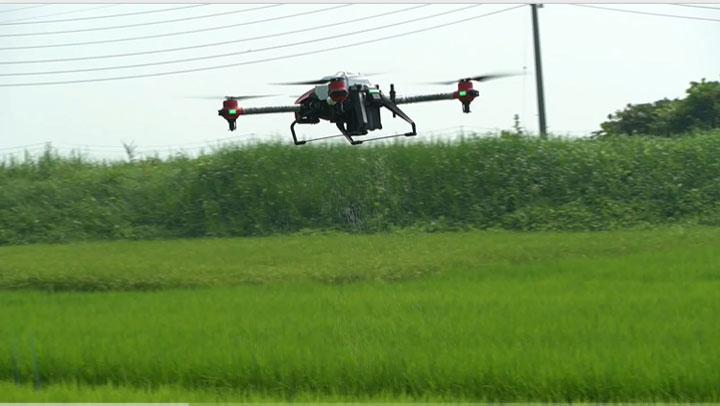 スマート農業「ドローンによる作業動画」