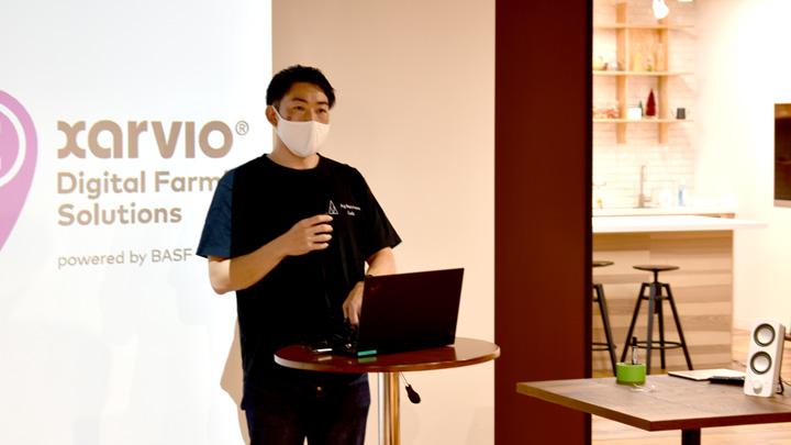 WEBミーティングを共催したAgVentureLabの藤田マネージャー