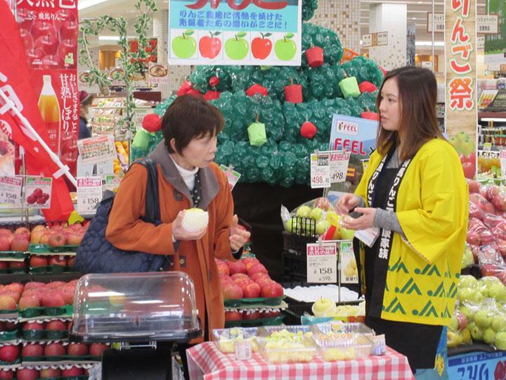 女性部・農協役職員が全国でりんご販売キャンペーン