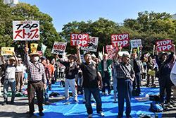 2016.10 TPP国会批准反対の市民集会