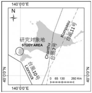 当時、北海道に上陸した3つの台風