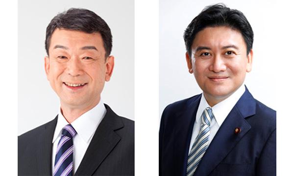 中村副大臣(左)、武部副大臣