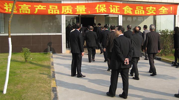 日本向け農産物、加工食品は安全性が特に重視される(2009年、上海で)