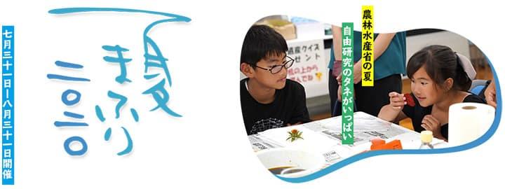 子ども向け夏のWeb講座「夏まふり2020」開催