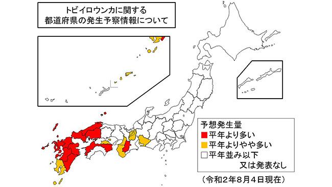 西日本でトビイロウンカに注意 病害虫発生予報 農水省