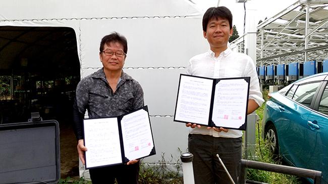 営農型太陽光発電設備の災害時活用で地元町内会と協定 千葉エコ・エネルギー