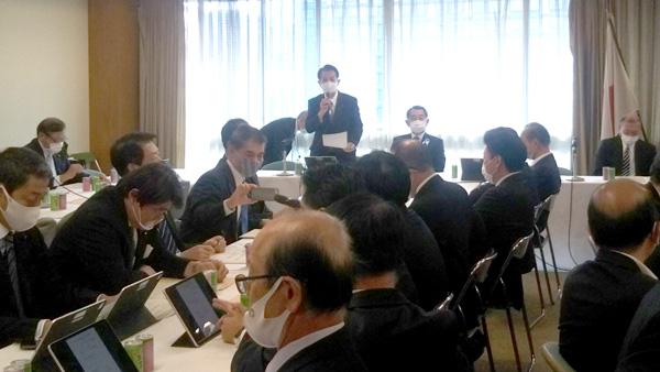 10月30日に開かれた自民党の会合