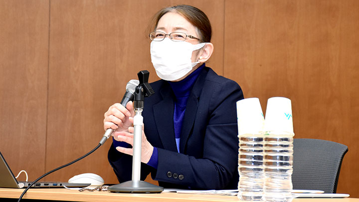 講演する(一社)日本農福連携協会 村木厚子副会長理事