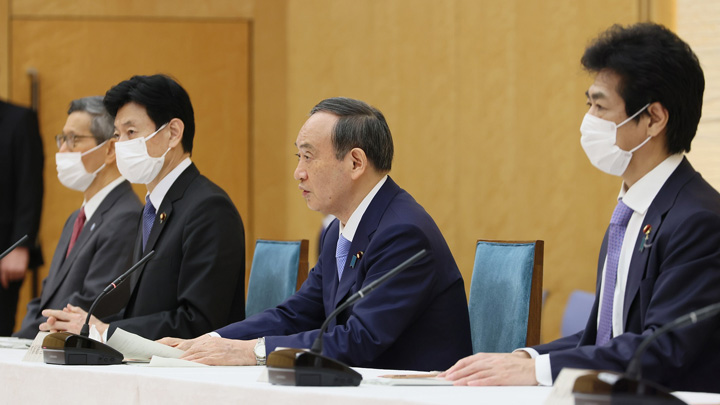 発言する菅総理(写真:首相官邸)
