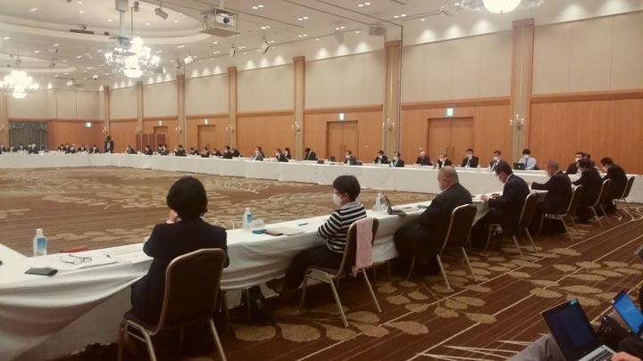 福島県いわき市のホテルで開かれた「廃炉・汚染水・処理水対策福島協議会」