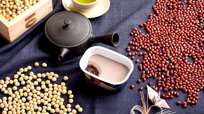 「大豆のプリン 重ね小豆」