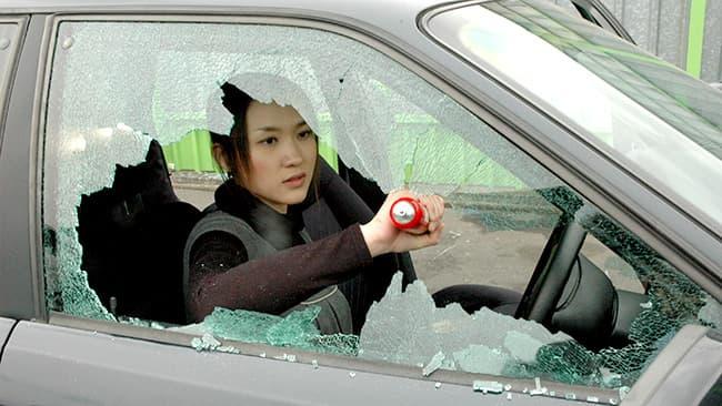 いざという時に窓ガラスを割って車内から脱出できる