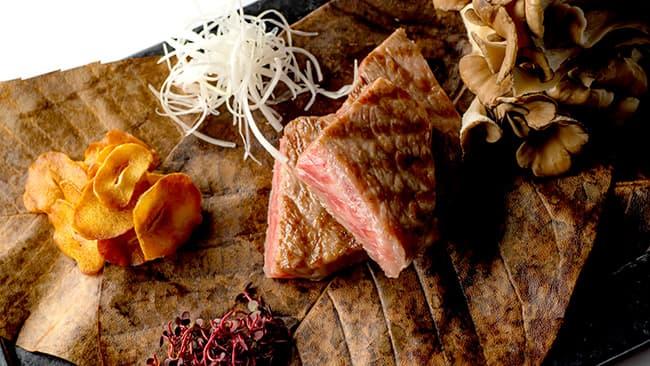 「六甲和牛」サーロインの炭火焼き