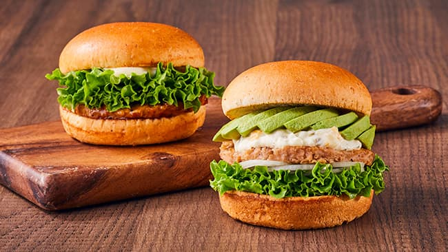 フレッシュネスバーガーの「大豆パティ第2弾」にDAIZの植物肉が採用