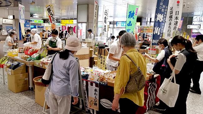 過去に開催された「埼玉県産品フェア」の会場