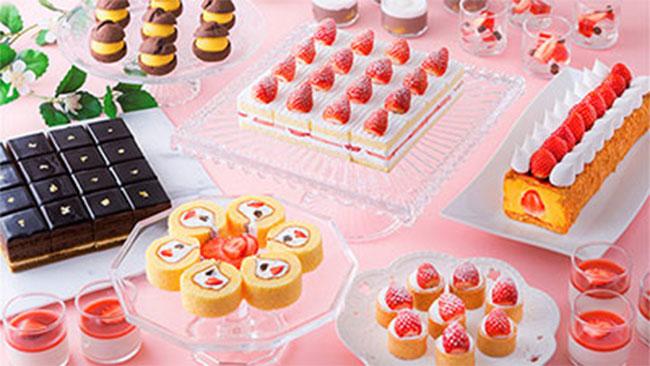 「スーパーあまおう」ショートケーキなどいちごづくしのビュッフェ開催