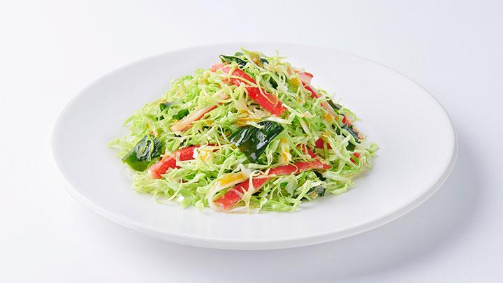 キャベツとかにかまのあえサラダ