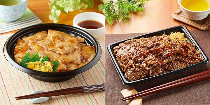 炙り焼 おろし豚丼(まろやかぽん酢)・特製ダレの炙り焼牛カルビ重