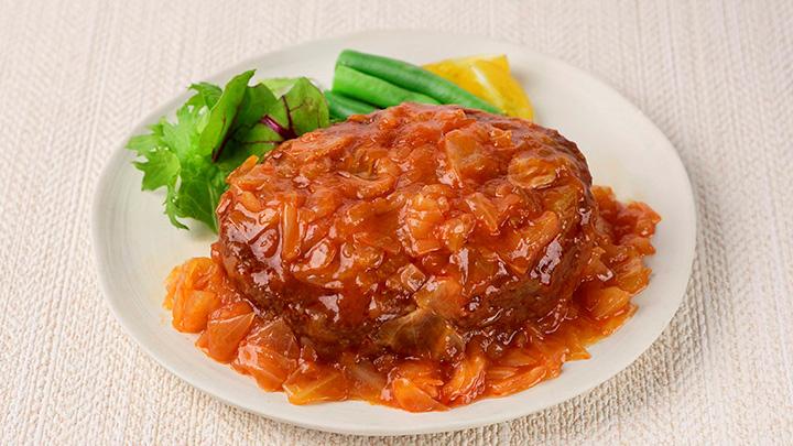 神奈川三浦のキャベツを使ったトマトソースハンバーグ ロールキャベツ風