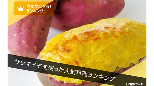 1位は「スイートポテト」サツマイモの人気料理に関する調査 LINE